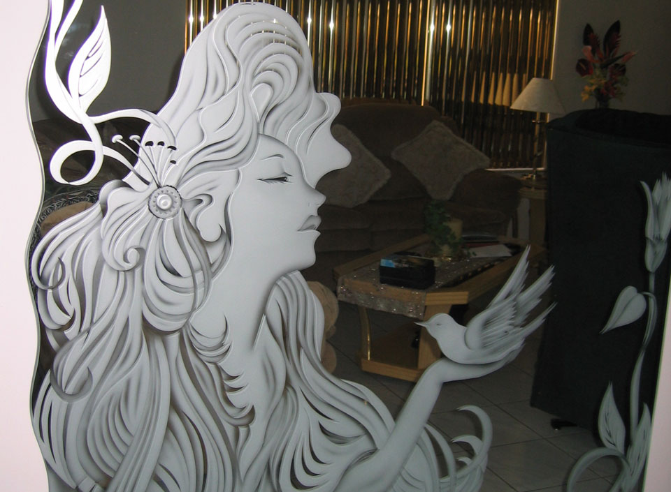 Custom Etched Mirrors,...