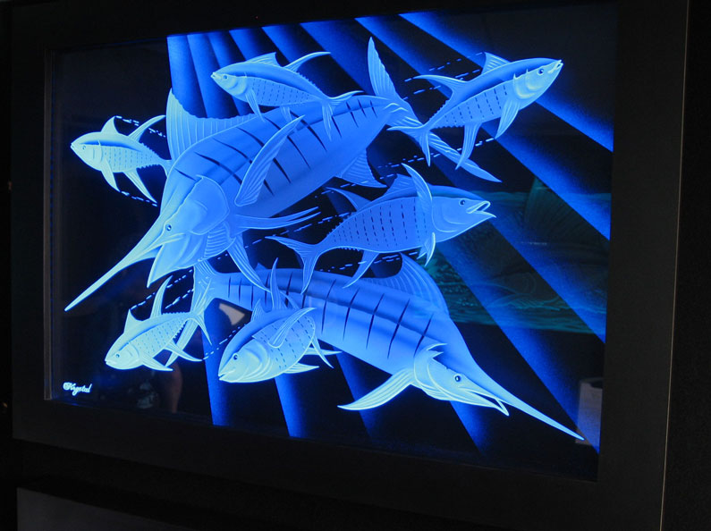 Custom Glass Etching With Led Lights Becomes Spectacular