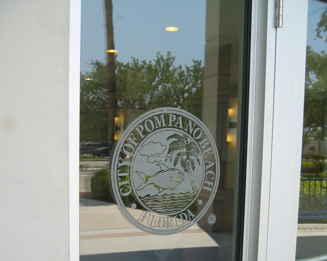 Glass Door Logo : Etched glass signs frosted illuminated logos