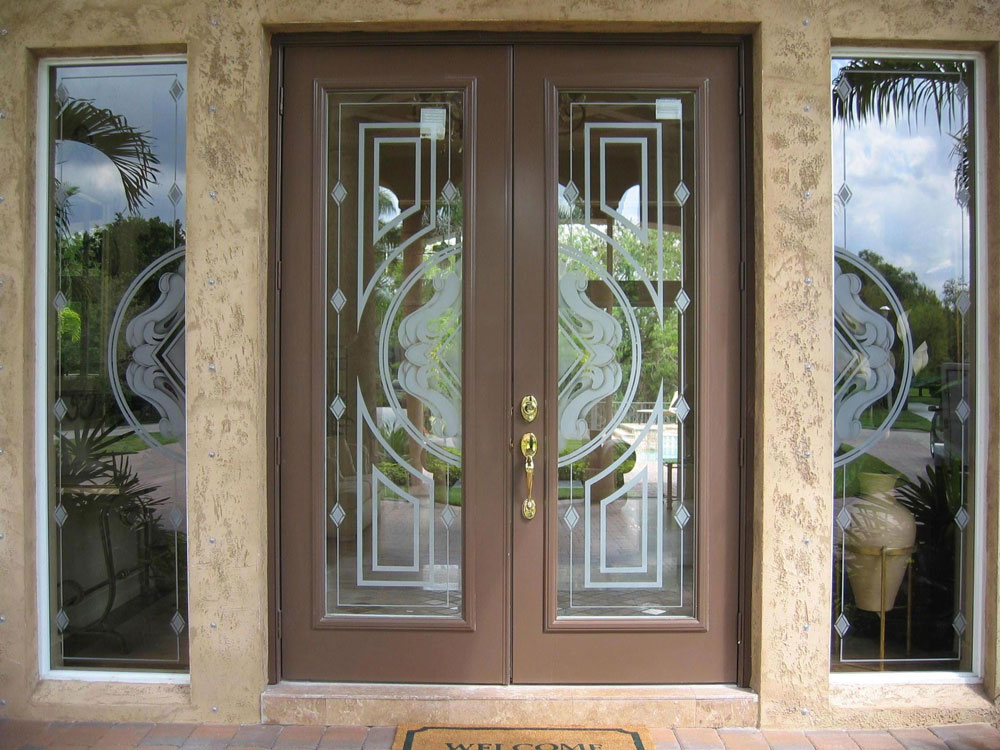 Etched Glass Frosted Glass Interior Doors Custom