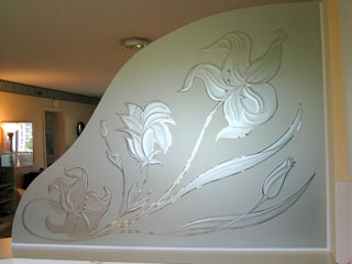 Glass-Etching-Lilies