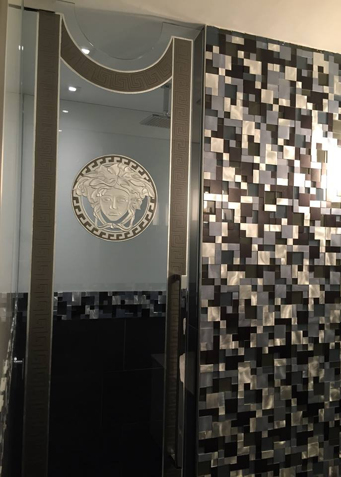 Painted etched glass shower doors gets facebook review painted etched glass shower planetlyrics Choice Image
