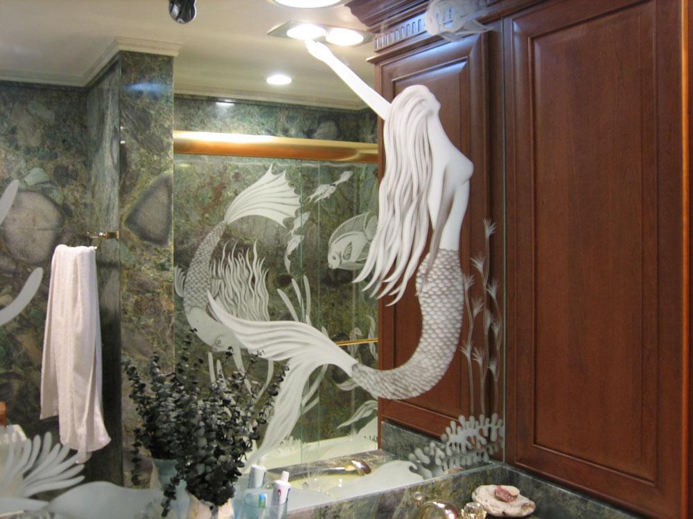 Custom Etched Mirrors, Antique, Contemporary, Decorative.