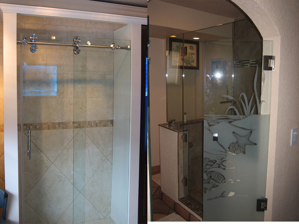 Beautiful Frosted Glass Door